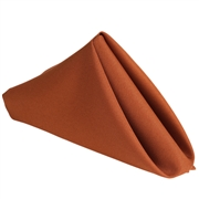 Burnt Orange Polyester Napkins