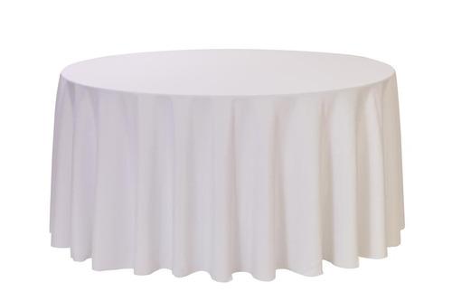 White - 120 inch round - Polyester